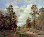 forest original paintings - the road to louveciennes at the outskirts of the forest by camille pissarro