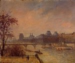 camille pissarro the seine and the louvre paris paintings
