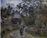 camille pissarro the village path art