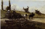 camille pissarro the wood cart art