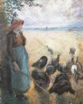camille pissarro turkey girl painting
