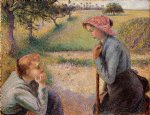 camille pissarro two peasant woman chatting art