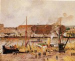 camille pissarro unloading wood at rouen art