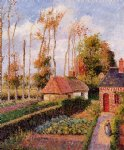 varengeville sunset by camille pissarro Painting