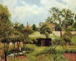 camille pissarro view across stamford brook common painting