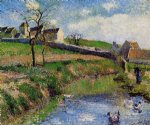 camille pissarro view of a farm in osny paintings