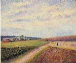 camille pissarro view of eragny ii paintings