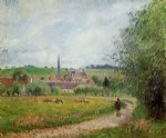 camille pissarro view of eragny iii paintings