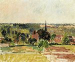 camille pissarro view of eragny paintings