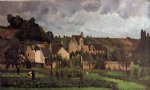 camille pissarro view of l heritage at pontoise paintings