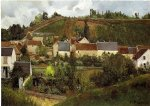 camille pissarro view of l hermitage jallais hills pontoise paintings