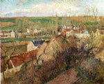 camille pissarro view of osny near pontoise paintings