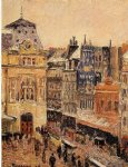camille pissarro view of paris rue d amsterdam painting
