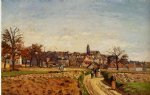 camille pissarro view of pontoise paintings