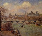 camille pissarro view of the seine from the raised terrace of the pont paintings