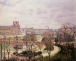 camille pissarro view of the tulleries morning paintings