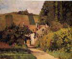 camille pissarro village church paintings
