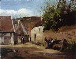 camille pissarro village corner paintings