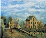 camille pissarro village de voisins 1872 oil paintings
