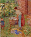 camille pissarro washerwoman eragny paintings
