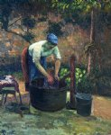 camille pissarro washerwoman paintings