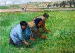 camille pissarro weeders paintings