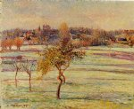 camille pissarro white frost at eragny art