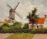 camille pissarro windmill at knocke belgium art