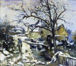 camille pissarro winter at montfoucault painting