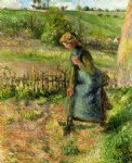 camille pissarro woman digging painting