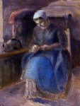 camille pissarro woman sewing art