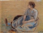 camille pissarro woman sitting on the floor painting