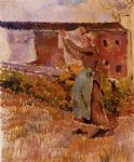 camille pissarro women tending the laundry study art