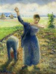 camille pissarro workers in the fields ii art