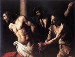 caravaggio art - christ at the column by caravaggio