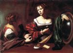 caravaggio art - martha and mary magdalene by caravaggio