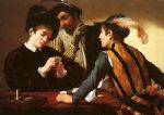 the cardsharps by caravaggio painting