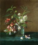 floral original paintings - floral still life by carducius plantagenet ream