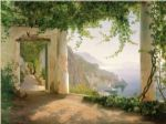 carl fredrik aagard original paintings - amalfi dia cappuccini 1 by carl fredrik aagard