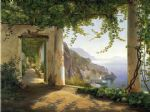 carl fredrik aagard original paintings - amalfi dia cappuccini 2 by carl fredrik aagard