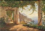 carl fredrik aagard original paintings - amalfi dia cappuccini by carl fredrik aagard