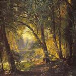 carl fredrik aagard original paintings - deer park by carl fredrik aagard