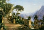 carl fredrik aagard print - lodge on lake como by carl fredrik aagard