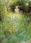 fairy acrylic paintings - a fairy kersti and a view of a meadow by carl larsson