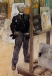 carl larsson famous paintings - self portrait by carl larsson