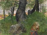 carl larsson famous paintings - susanne i en skogsbacke by carl larsson