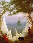 caspar david friedrich acrylic paintings - chalk cliffs on rugen by caspar david friedrich