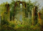 caspar david friedrich acrylic paintings - eldena ruin by caspar david friedrich