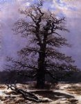 caspar david friedrich original paintings - oak in the snow by caspar david friedrich