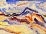abstract landscape by charles demuth painting